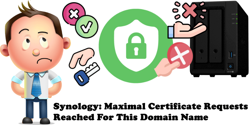 Synology Maximal Certificate Requests Reached For This Domain Name